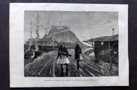 ILN 1880 Print. The Albanian Question: Tusi, offered in exchange for Gusinje
